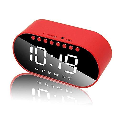 Dkee Bluetooth-Lautsprecher Bluetooth Wireless-Home-Wecker rot tragbare Lautsprecher Subwoofer Mini-Audio-Player