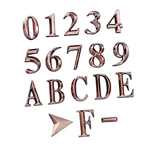MERIGLARE Números de buzón de Correo de 18 Piezas 0-9 números de dirección de a-Z números de Puerta autoadhesivos números de buzón Reflectantes para Buzón de