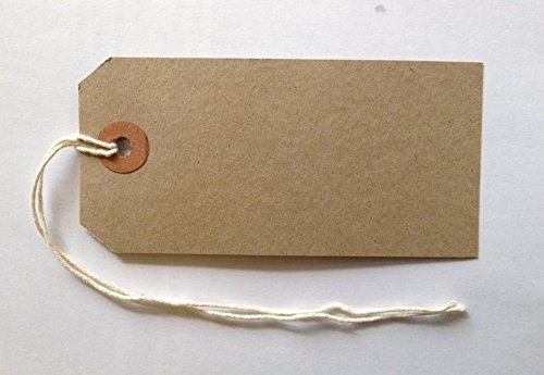 Gepäckanhänger, verstärkt, Braun, 96 x 48 mm, 100 Stück