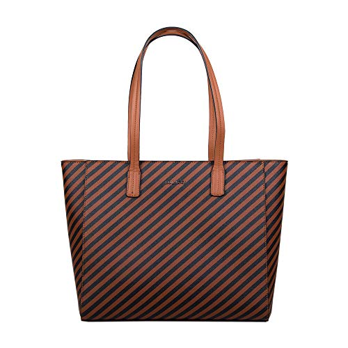 Bulaggi Sissy Stripe Pattern Shopping Bag Dimensioni 33x30x10cm - Ruggine