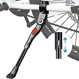Soporte Lateral de Bicicleta Ajustable, Caballete Lateral de Bicicleta de Aluminio con Llave Hexagonal y Pie de Goma, Compatible para Bicicletas Niños y Adultos, MTB y Bici de Carretera