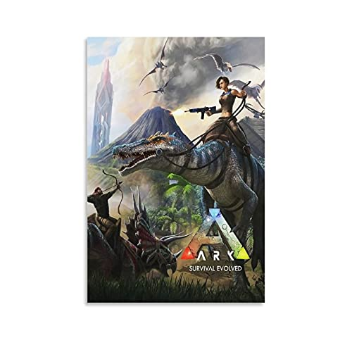 Ark Survival Evolution Leinwand-Kunst-Poster und Wand-Kunstdruck, modernes Familienschlafzimmer, 20 x 30 cm