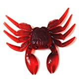 Fine Simulation Crab Fishing Bait, Artificial Crab Lure Bait 3D Simulation Soft Fish Bait Fishing Lures for Bass Trout Fishing Tackle Accessories (Red)