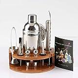 Delgeo Cocktail Shaker Set,Kit Barman Shaker Cocktail Set di 12 Pezzi, Shaker Cocktail Boston Bartender Kit in Acciaio Inossidabile,Party Set Cocktail di Regalo con Accessori,per Casa e Bar