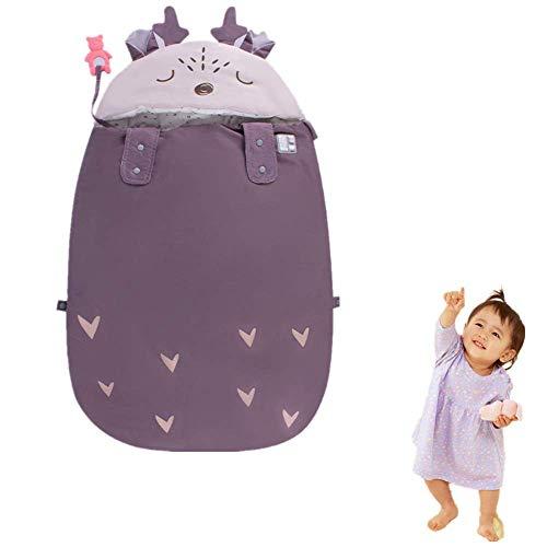 Schlafsack Baby Winter, Kinderschlafsack Outdoor, Erstausstattung Für Neugeborene, Buggy Schlafsack Kinder 86Cm,Lila