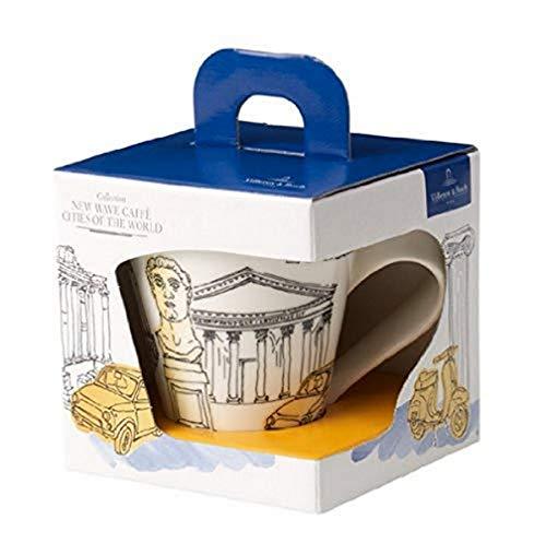 Villeroy & Boch Cities of the World Taza de café Roma, 300 ml, Altura: 11 cm, Porcelana Premium, Blanco/Colorido