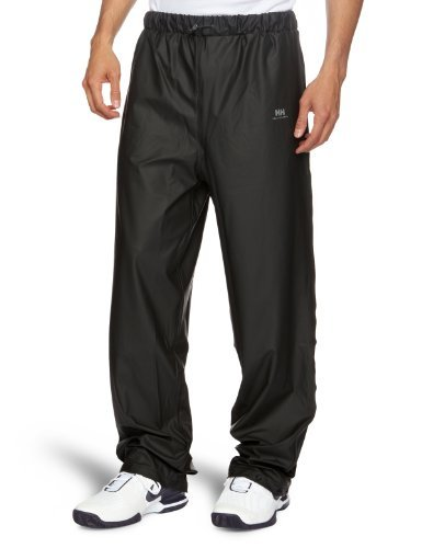 Helly Hansen Men's Voss Windproof Waterproof Rain Pant, 990 Black, Large