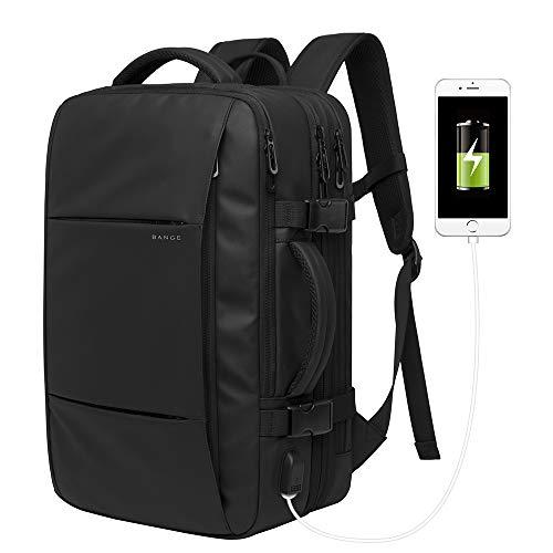 22-37L Rucksack Handgepäck Laptop Rucksack für 15,6 Zoll, Damen Rucksack Herren mit USB 3.0 Anschluss, Flug Genehmigt Rucksack Kabinenrucksack