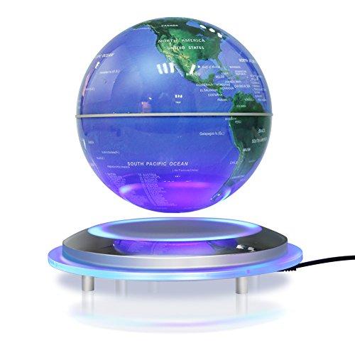 Globo di levitazione magnetica, 6'' sfera galleggiante girevole Anti gravità World Map galleggiante LED regalo mappa terra