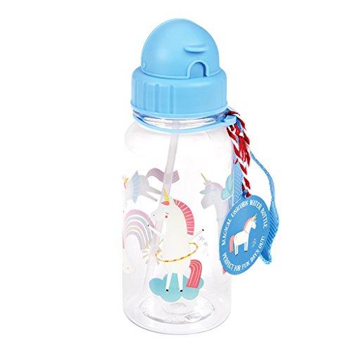 Rex London - Borraccia per bambini, in plastica senza BPA, 500 ml, motivo a scelta (magico unicorno)
