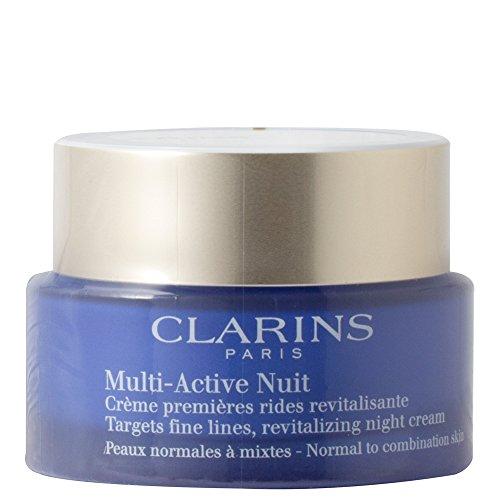 Multi-Active Nuit Crème Premières Rides Normale und Mischung Clarins Nachtcreme gegen die ersten Falten Damen 50 ml Tiegel