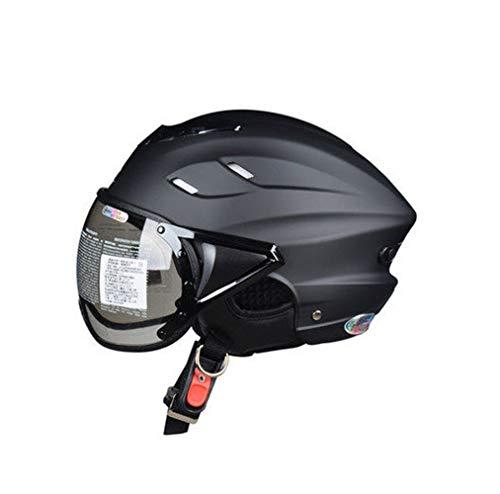YHDQ Herren Damen Motorradhelme Abnehmbare Atmungsaktive Ohrenschützer Halbhelme für Sonnenschutz und Leichtgewicht Vier Jahreszeiten Professionelle Fahrradausrüstung