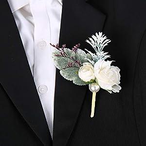 Silk Flower Arrangements SERRAFLORA Wristlet Corsage,Bridesmaid Bouquet,Wedding Wrist Flowers,Bridal Bouquet,Artificial Flower Bouquet,Silk Flower Supplies,Flower Decor,Wedding Flowers(20# 6pcs)