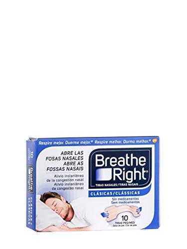Rhinomer Breathe Right - Tiras Nasales Pequeñas, 10 Unidades, Tono Claro, 8470003062336