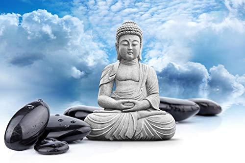 Cielo Azul, Nubes Blancas, Estatua de Buda - Adultos Niños Puzzle 1000 Piezas Clásico Madera DIY Toys Regalo
