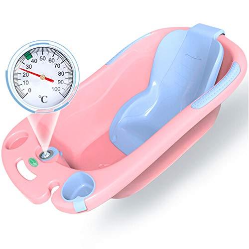 HDKIGY Babybadewanne Kinder können in der Badewanne sitzen Neugeborene Babybadewanne,Pink