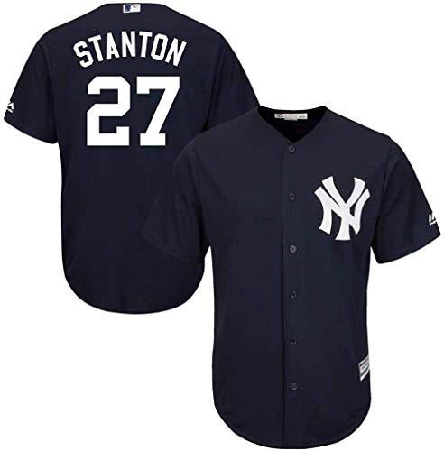 Outerstuff Giancarlo Stanton MLB Majestic Boys Youth 8-20 Navy Alternate Cool Base Replica Jersey (Youth Large 14-16)