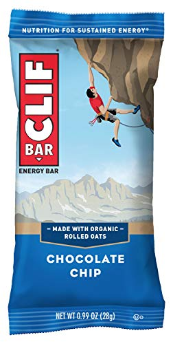 CLIF BAR - Mini Energy Bars - Chocolate Chip - (0.99 Ounce Snack Bars, 20 Count)