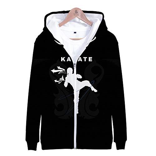 ACBANANA Karate Kid Zip Hoodie Kyokushin Karate Association Personalisierte Print Casual Langarm Sweatshirt Top (Herren, Damen)