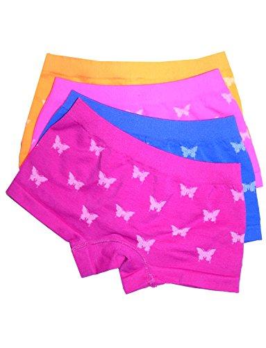 LisaModa LisaModa Mädchen Panty 4er Pack Seamless bunt Schmetterling 104-110 (2-4)