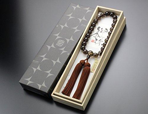 念珠ドットコム『数珠男性用22玉茶水晶正絹房(101220031)』