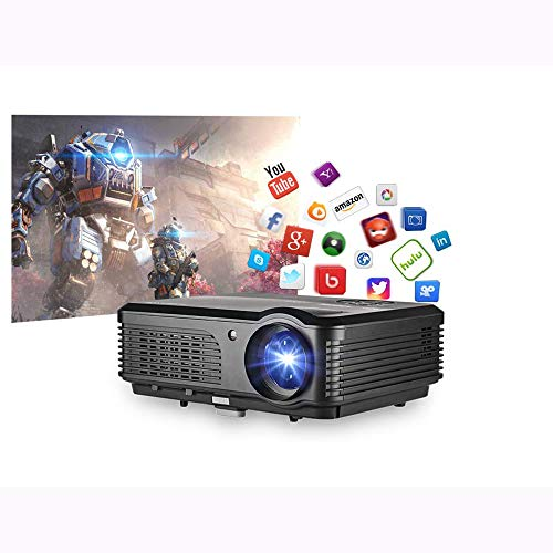 AI LIFE Proyector de TV Inteligente inalámbrico Proyector LCD Bluetooth WiFi de 6400 lúmenes 1080P Home Theater con HDMI USB TV Audio AV Puerto AV Digital Digital Movie Gaming Video Proyectores