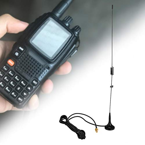 FOLOSAFENAR Antena de Coche de Repuesto de señal Estable SMA-Antena magnética Hembra 3.0dB / 2.15dB de Alta Ganancia, para Radio, para Baofeng UV-5R, para comunicación móvil