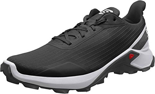 Salomon Alphacross, Zapatillas de Trail Running para Hombre, Negro (Black/White/Monument), 43 1/3 EU