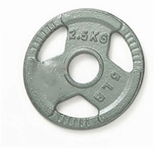 Placa de peso del hierro fundido del agujero pequeño para la aptitud del hogar, el empuñadura estándar Placas de la fuerza del hierro fundido Formación para el barbell, ( Color : 2.5kg(5.5lb)*4pcs )