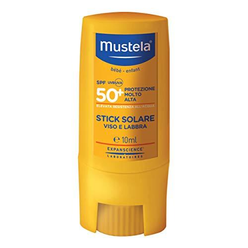 Mustela Le4827 Stick Solare Protezione Molto Alta Spf50+ Viso/labbra Bimbi, Multicolore, 10 Milliliters