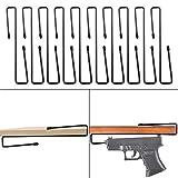 Adoreal 10 PCS Gun Rack, Pistol Rack for Gun Safe Shelf or Stack On Gun Cabinet, Gun Safe Accessory, Handgun Hanger Pistol Organizer for Display, Gifts for Hunters