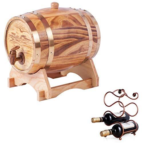 Pure eiken vat eiken vat 1.5L Vintage Whiskey vat met ingebouwde folie pad met wijnrek gebruikt om uw bier, wijn, whisky, honing rode wijn vat