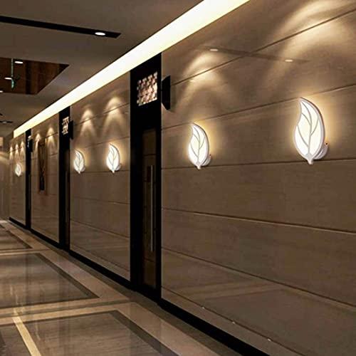 Lámpara LED de pared, aplique en forma de hoja, diseño moderno de metal y acrílico, dormitorio, pasillo, salón, potencia 7 W (luz natural)
