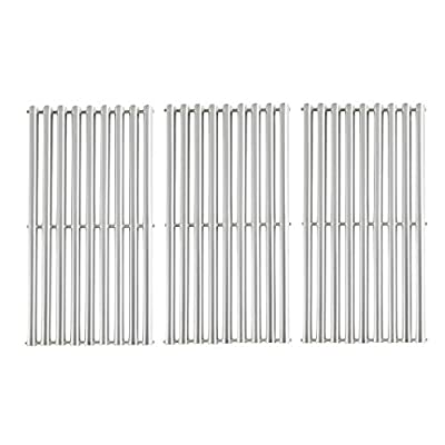 """BBQration 3-Pack 16 15/16"""" SSF612C Half-Tube Design Stainless Steel Cooking Grid Replacement for Gas Grill Charbroil Advantage 463344116, 463343015, 463344015, Kenmore, Broil King, G467-0002-W1"""