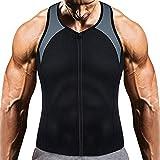 FORGANO(フォルガノ) サウナスーツ メンズ インナー 加圧シャツ 超発汗 脂肪燃焼 お腹引き締め トレーニングウェア (ブラック&グレー, M)