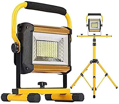 Luces de inundación Recargables 100W 8000LM Luz LED de Trabajo portátil (Sin Soporte) Luz Impermeable para Acampar al Aire Libre Construcción 3 Brillo Ajustable Azul y Rojo Intermitente de Emerge