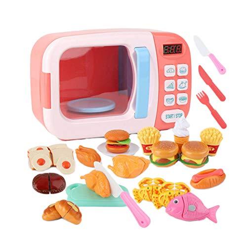 Mikrowelle Spielzeug Mikrowelle Spielzeug Geschirr Ofen Pädagogisches Spielset Für Kinder Kleinkinder Jungen Mädchen Geburtstag Weihnachtsfeier Geschenk