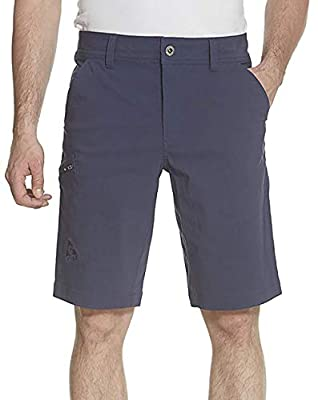 Gerry Mens Stretch Cargo 5 Pocket Shorts Venture Flat Front Woven Hiking Shorts for Men (34, Blue Dust)