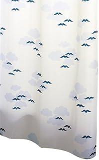 Ridder 464630-350 Helgoland - Cortina de Ducha Textil (240 x 180 cm, Anillas Incluidas), Color Blanco y Azul