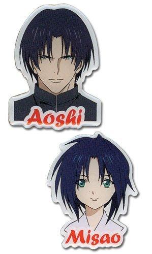 Rurouni Kenshin - Aoshi & Misao Pin Set