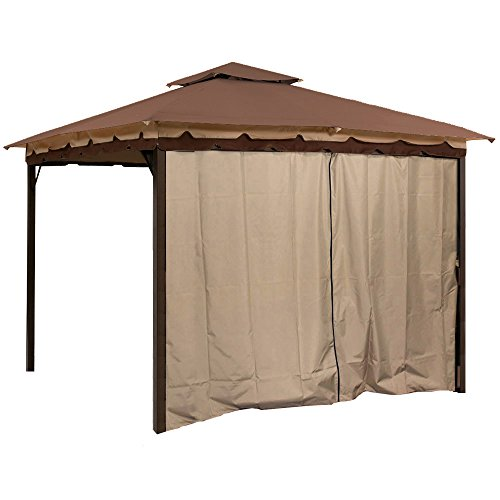 Add Privacy to Your 10 x 12 Gazebo with This Four Pack of Easy to Install Privacy Panel Side Walls Including Snap-on Rings