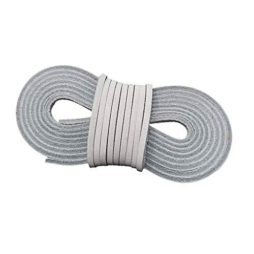 Baoblaze Premium Leder Schnur Faden Lederschnürsenkel Lederschnur Lederband für Handwerk DIY Schmuck Schnürsystem - Grau, M