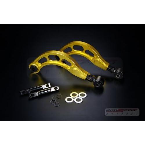 BLACKHORSE-RACING 2PCS Rear Adjustable Upper Camber Kit Silver Fit for 2006 2007 2008 2009 2010 2011 2012 2013 2014 2015 Honda Civic LX EX DX SI