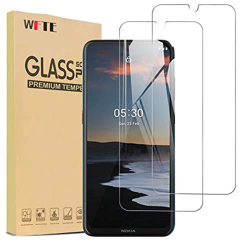 [2 Stück] WFTE Nokia 1.4/Nokia 2.4/Nokia 5.3 Panzerglas Schutzfolie 9H Festigkeit, Anti-Kratzen, Anti-Öl, Anti-Bläschen Schutzfolie Bildschirmschutzfolien