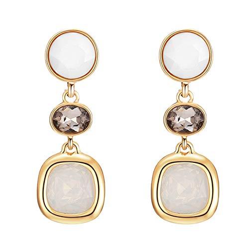 Pendiente Sin Piercing Clip En Pendientes 2020 Largo Geométrico Ear Clips Para Mujeres Lujo Boda Rhinestone Color Oro Pendiente