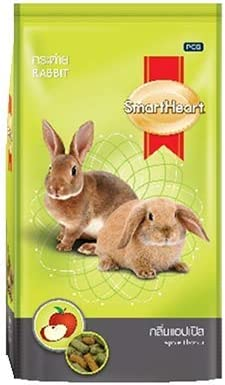 Fins Fur and Feathers Smart Heart Bird and Small Animal Food (Rabbit Apple Flavor, 1Kg)