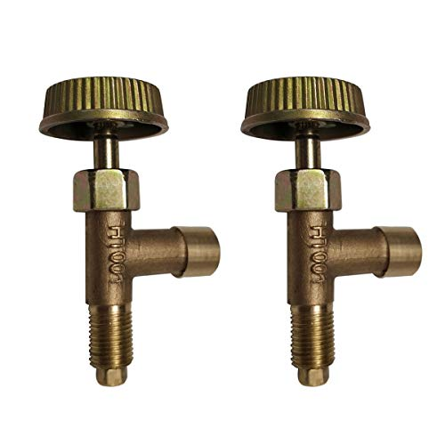 MENSI Propane Heater Valve Replacement Parts Brass Gas Control Needle Valve With Knob Set of 2