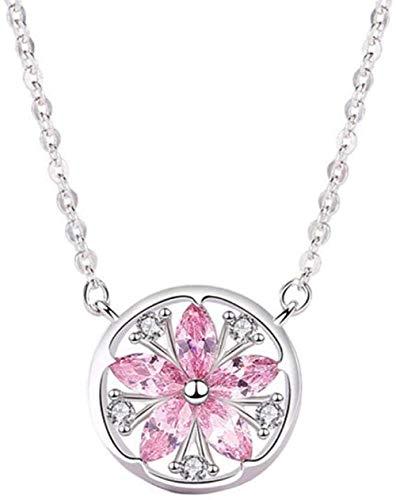 NC110 Circón Rosa Flor de Cerezo Collares Pendientes Joyas YUAHAOJIGE8