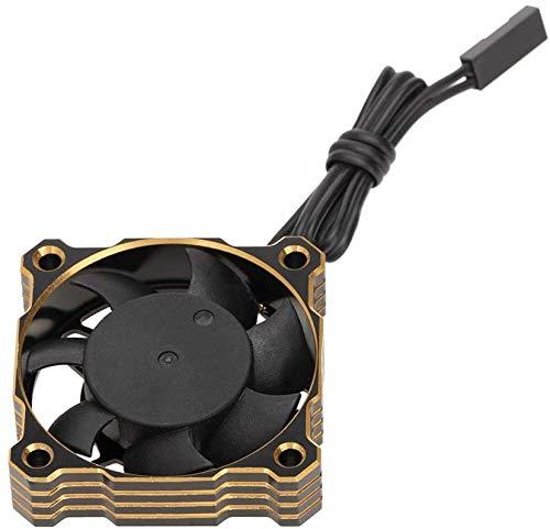 Ventilador de enfriamiento de motor RC Metal 40mm 15000RPM 5V-9V MOTOR ESC Ventilador De Refrigeración Fregadero De Calor Para 1/8 1/10 1/12 RC Modelo Piezas De Automóviles, Amarillo RC Motor Sentreds