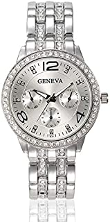 Watch for women from Geneva silver inlaid with crystals